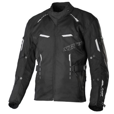 Textilná bunda SECA Orkan čierna, na motorku
