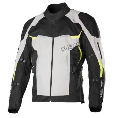 Textilná bunda SECA Orkan sivá, na motorku