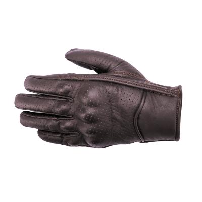 Kožené rukavice SECA Tabu perforované hnedé, na motorku