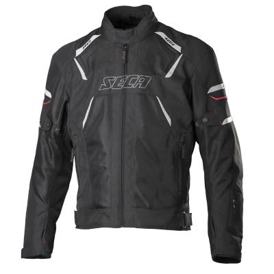 Textilná bunda SECA Airflow čierna, na motorku