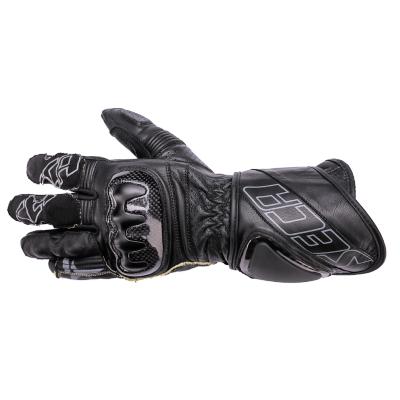 Kožené rukavice SECA Eclipse II čierne, na motorku