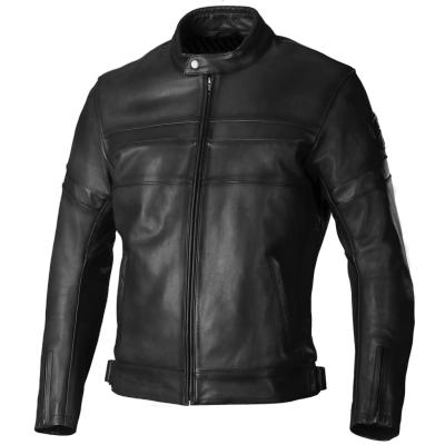 Kožená bunda SECA R-Tro čierna, na motorku