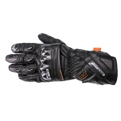 Kožené rukavice SECA Trackday čierne, na motorku