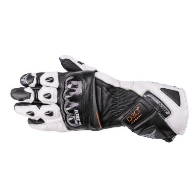 Kožené rukavice SECA Trackday čierno-biele, na motorku