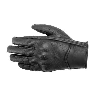 Kožené rukavice SECA Tabu perforované čierne, na motorku