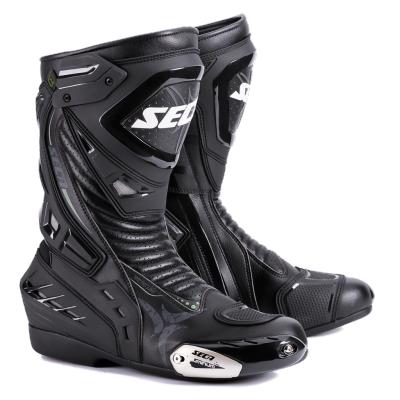 Kožené čižmy SECA Hyper STX čierne, na motorku