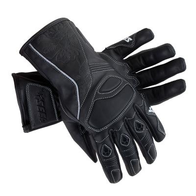 Kožené rukavice SECA Mira čierne, na motorku