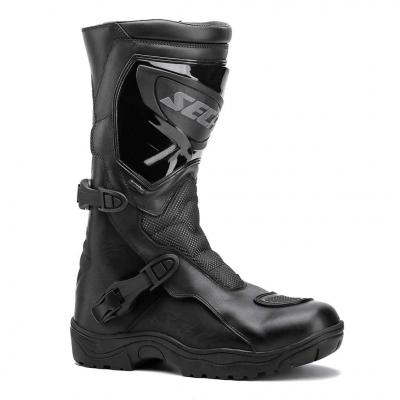 Kožené čižmy Seca Adventure STX - čierne