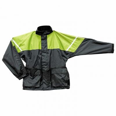 Nepremokavá bunda Seca Rain čierno-žltá fluo