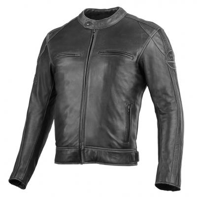 Kožená bunda Seca Aviator II - Washed - sivá