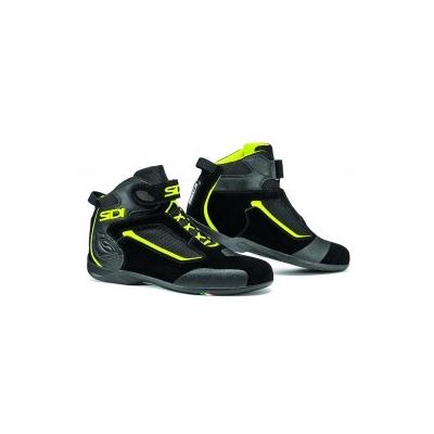 Topánky Sidi Gas čierno-neónovožlté, na motorku