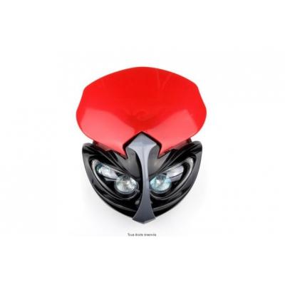 Maska predne so svetlom Kyoto čierna červena