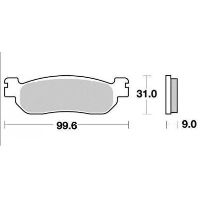 Brzdové doštičky Vesrah VD263JL sintrované predné