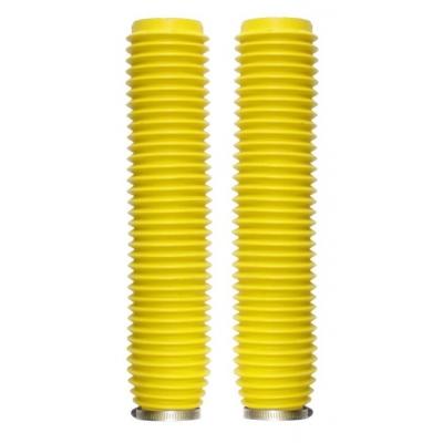 Manžety predných tlmičov 43/59mm, dĺžka 370mm - žlté