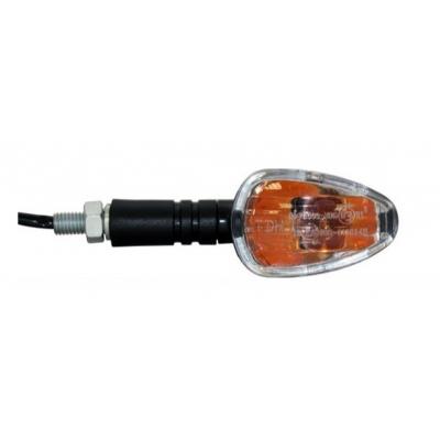 Smerovky mini čierne, číre sklo - 12V 10W