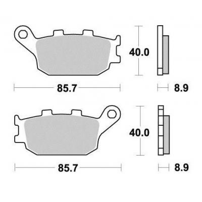 Brzdové doštičky SIFAM S1035N sintrované