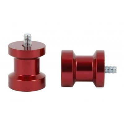 Padáky / úchyty stojanu pod zadnú kyvku M8x1,25, 27/31mm červená farba
