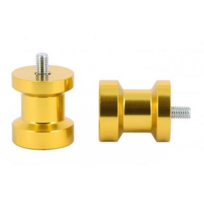 Padáky / úchyty stojanu pod zadnú kyvku M8x1,25, 27/31mm zlatá farb