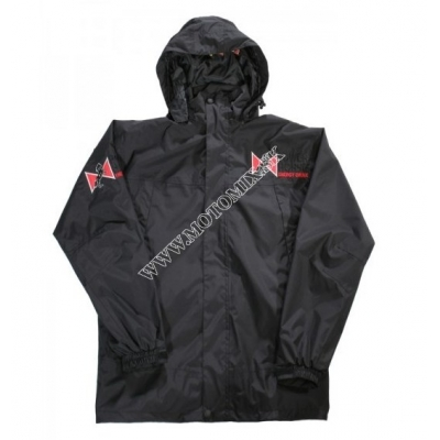 Bunda do dažďa SQ Powerhorse čierna - 2XL
