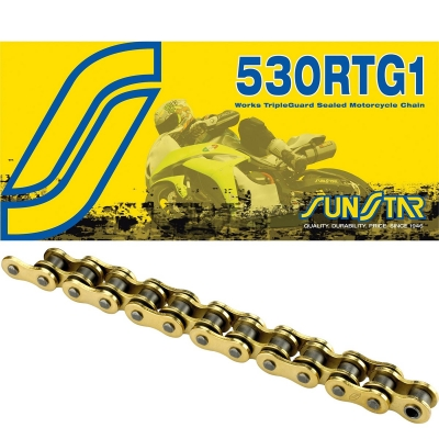 Reťaz SUNSTAR 530 RTG1 116čl. zlatá