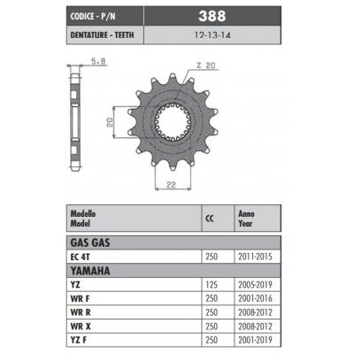 Kolečko Sunstar 388 13z.