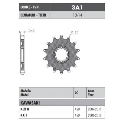 Kolečko Sunstar 3A1 13z.