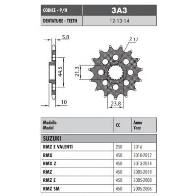 Kolečko Sunstar 3A3 13z.