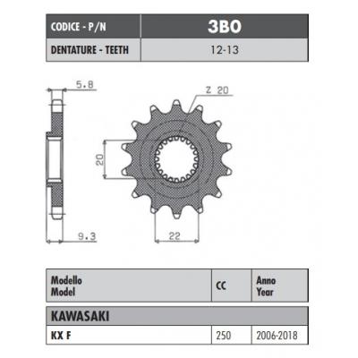 Kolečko Sunstar 3B0 13z.