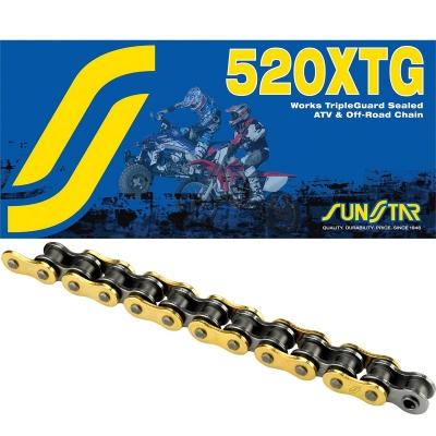 Reťaz SUNSTAR 520 XTG 118čl. zlatá