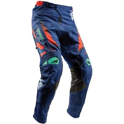 Nohavice Thor Fuse Rampant 2018 modro-tyrkysovo-oranžový, na motorku