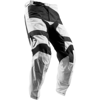 Nohavice Thor Pulse Level 2018 čierno-biele, na motorku