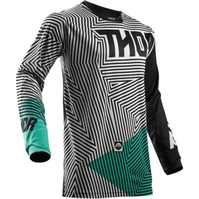 Dres Thor Pulse Geotec 2018 čierno-tyrkysový, na motorku