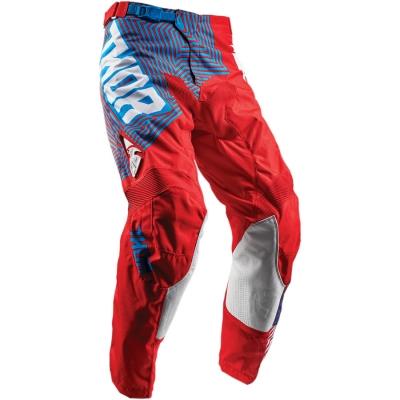 Nohavice Thor Pulse Geotec 2018 červeno-modré, na motorku