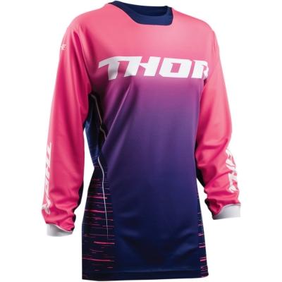 Dámsky dres Thor Pulse Dashe 2018 modro-ružový, na motorku