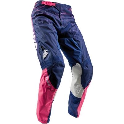 Dámske nohavice Thor Pulse Dashe 2018 modro-ružové, na motorku