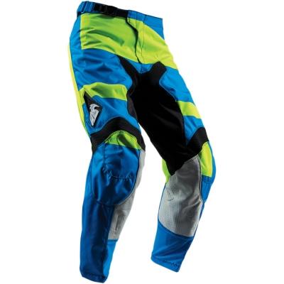 Detské nohavice Thor Pulse Level 2018 modro-limetkové, na motorku