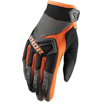 Detské rukavice Thor Spectrum 2019 čierno-oranžové, na motorku