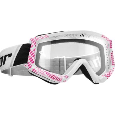Okuliare Thor Combat Cap bielo-ružové, na motorku