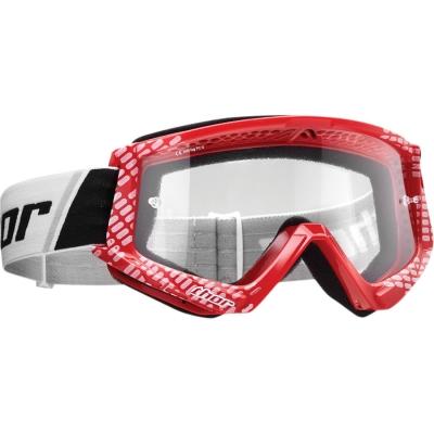Okuliare Thor Combat Cap červené, na motorku