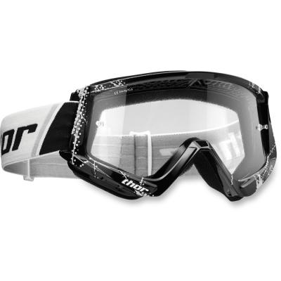 Okuliare Thor 2019 Combat Web čierno-biele, na motorku
