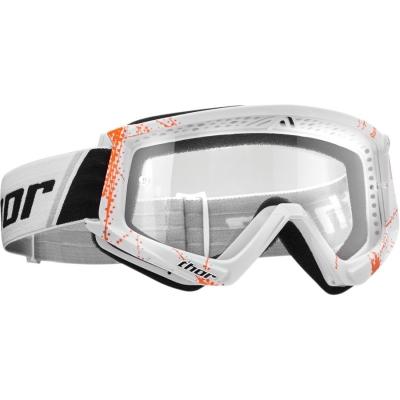 Okuliare Thor 2019 Combat Web bielo-oranžové, na motorku