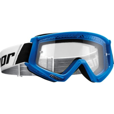 Okuliare Thor Combat modré, na motorku