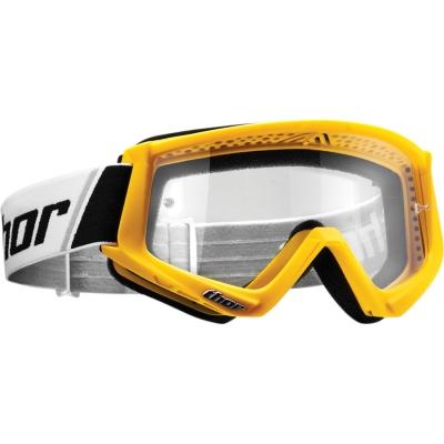 Okuliare Thor Combat žlté, na motorku