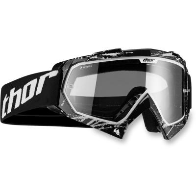 Detské okuliare Thor 2019 Enemy Splatter čierné, na motorku