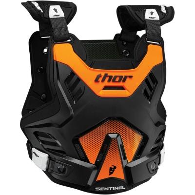 Chránič hrude Thor Sentinel GP čierno-neónovooranžový, na motorku