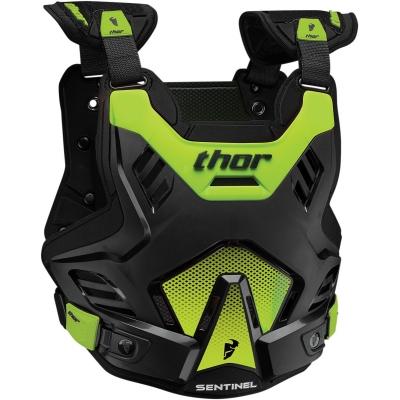 Chránič hrude Thor Sentinel GP čierno-neónovozelený, na motorku