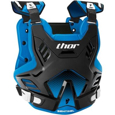 Chránič hrude Thor Sentinel GP čierno-modrý, na motorku