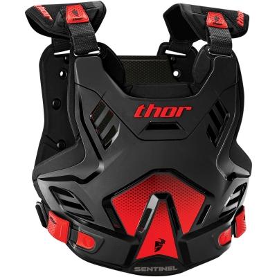 Chránič hrude Thor Sentinel GP čierno-červený, na motorku