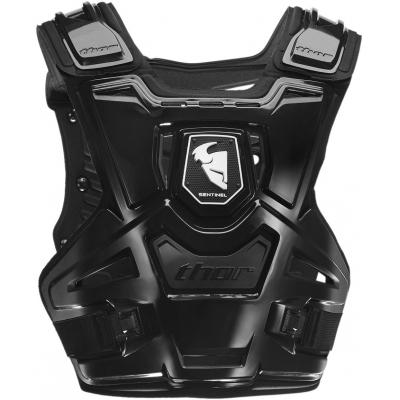 Chránič hrude Thor Sentinel čierno-biely, na motorku