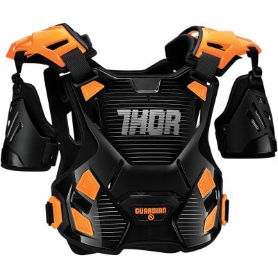 Chránič hrude Thor Guardian čierno-oranžový, na motorku